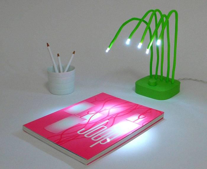 Необычный вариант настольного освещения светодиодным прибором