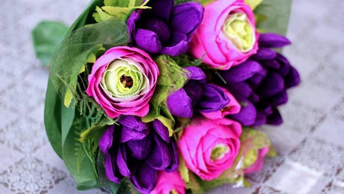 Своими руками цветы из гофрированной бумаги