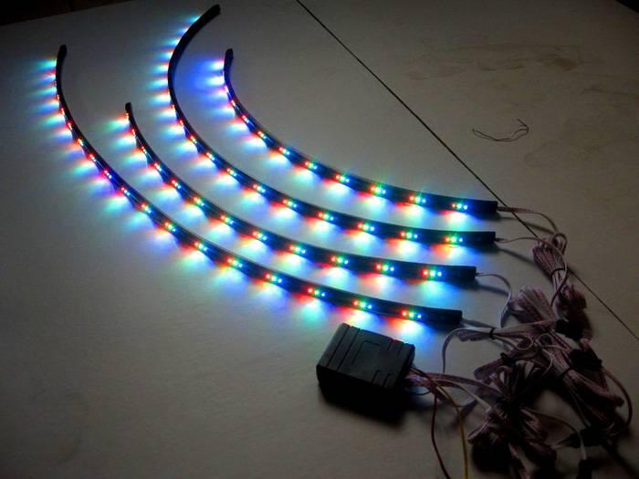 Отдельные элементы полосы RGB