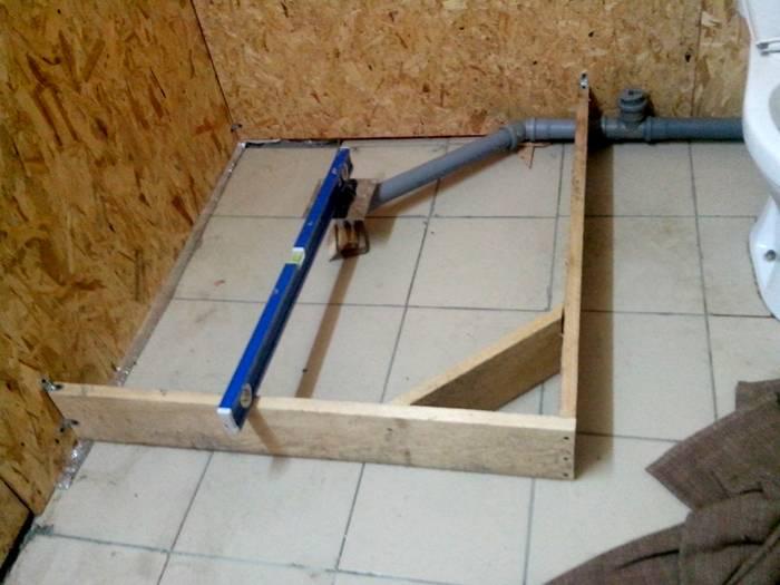 Монтаж душевой кабины в построенной ванной комнате