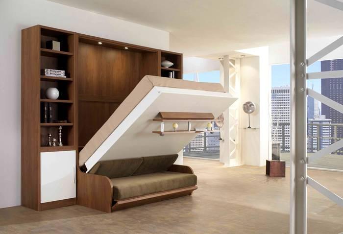 Газлифтовый механизм позволяет трансформировать мебель без усилий