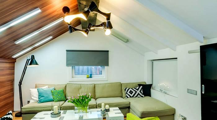 Вариант монтажа на потолок ИК электрообогревателей