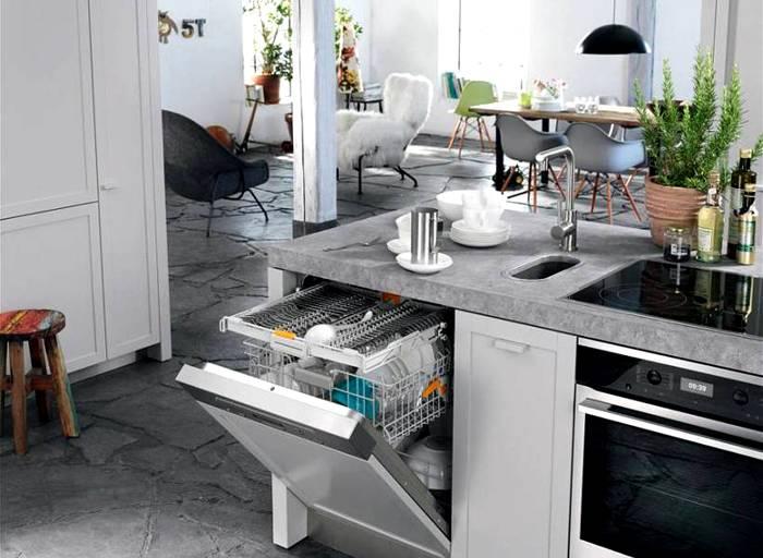 Вариант установки посудомойки
