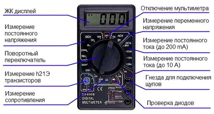 На схеме изображены все важные параметры
