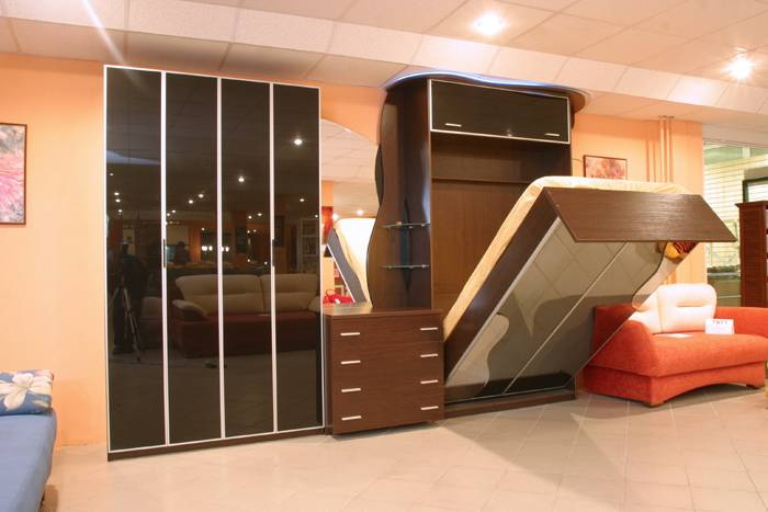 Двухспальную кровать можно превратить в шкаф одним движением руки