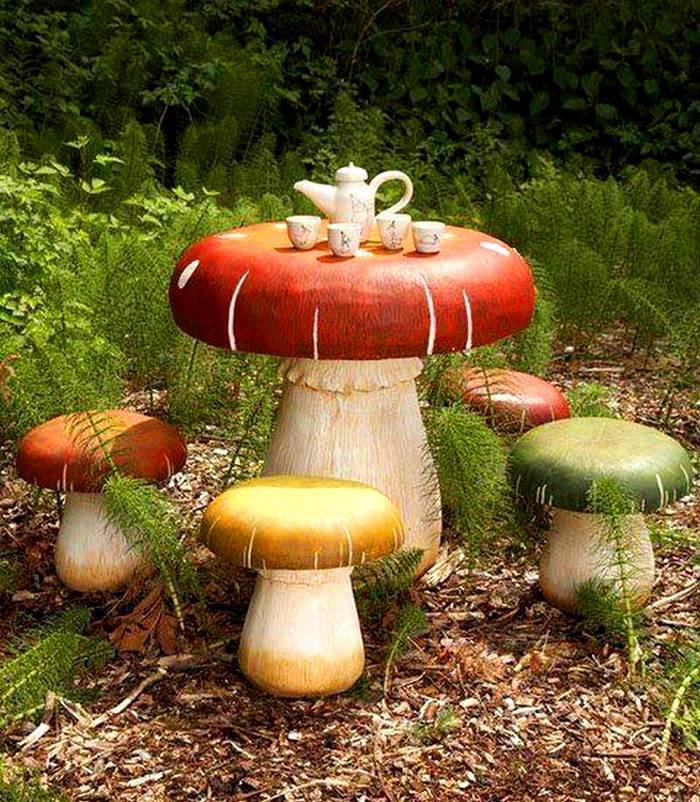 Декор из грибов