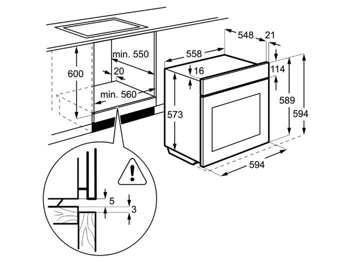 При установке подобных конструкций в мебельный гарнитур нужно тщательно вымерить все размеры
