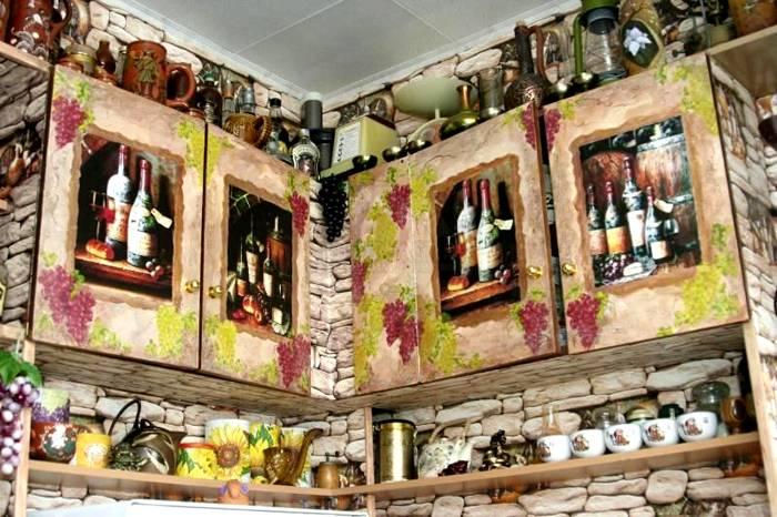 Такие шкафчики замечательно впишутся в кухонный интерьер