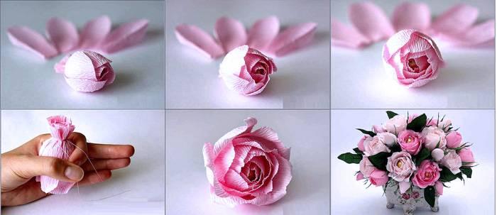 Последовательность изготовления розы