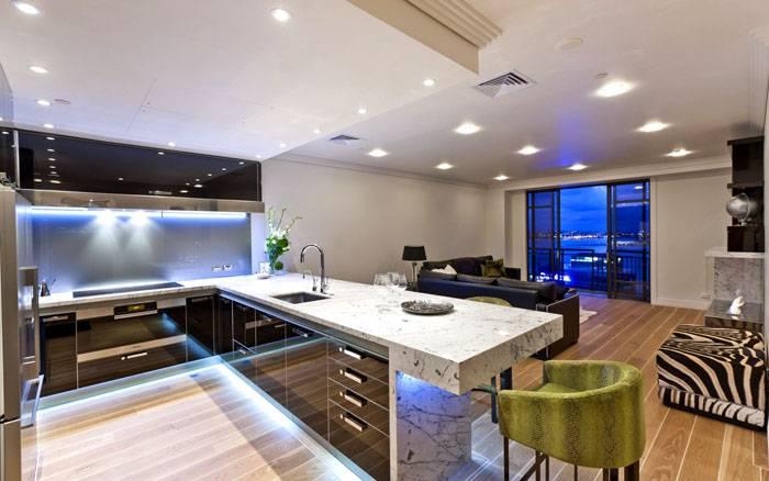 Светодиодные приборы полноценно освещают кухню