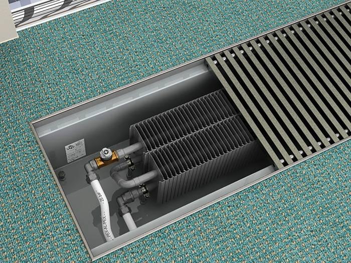 Устройство водяного конвектора