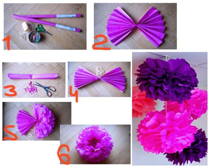 Изготовление шара или гвоздики