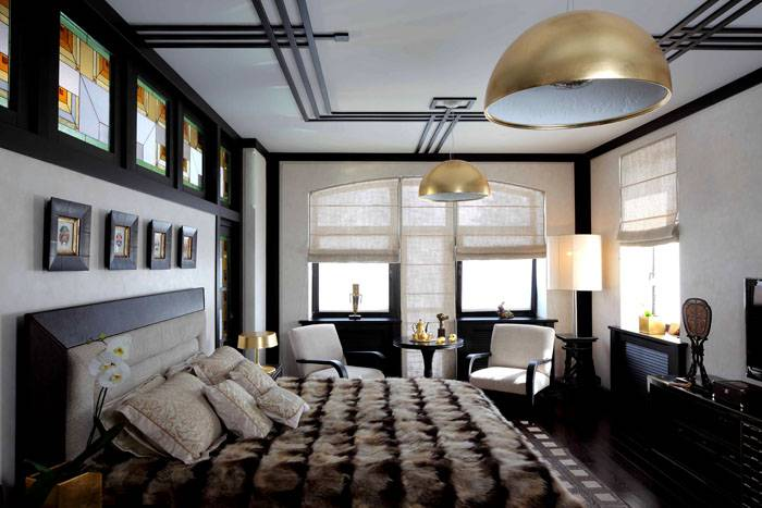Пример спальни в стиле Ар-нуво