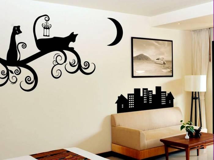 Трафареты для стен под покраску: распечатать