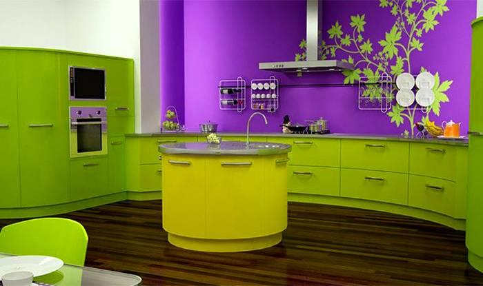 Контрастное сочетание в кухонном интерьере