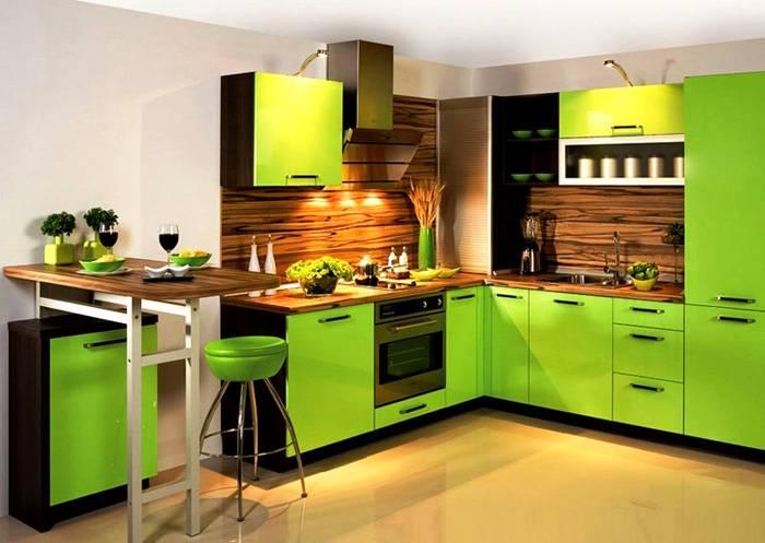 Светло-зеленый интерьер: свежесть и бодрость
