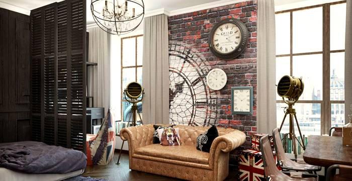 Стены украшают не только предметами, но и рисунками