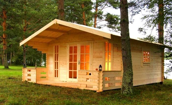 Деревянная бытовка, полностью совпадает внешне с небольшим домом