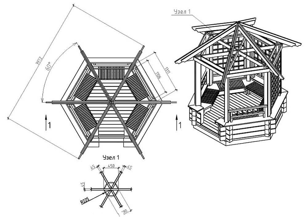 Проект шестиугольной конструкции