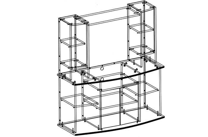 Некоторые мебельные компании предлагают изготовление тумбы с применением индивидуального проектирования