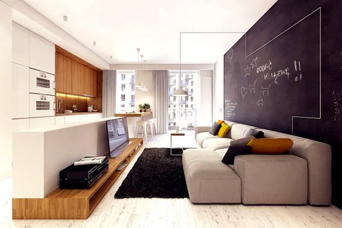 Тумба под телевизор в современном стиле: фото демонстрирует преимущества широкой мебели