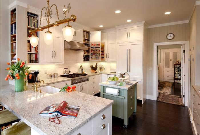 Фото дизайна интерьера кухни площадью 12 кв. метров