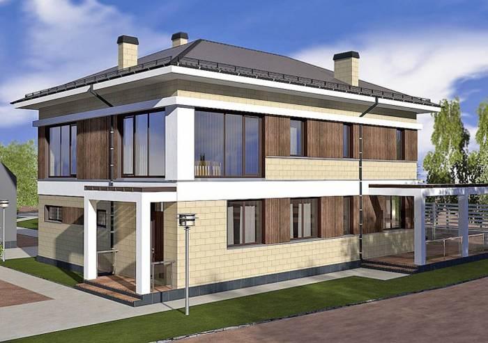 Количество панорамных окон небольшое, но дом они украшают