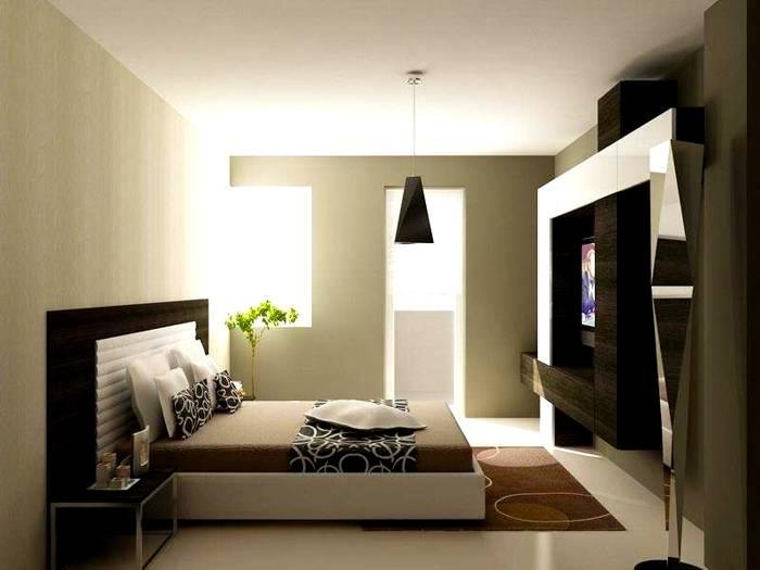 Малые габариты спальни не помешают стилю