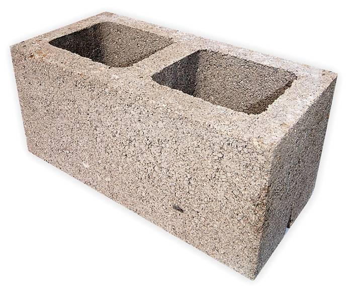 Вариант блока с добавлением керамзита в бетонную смесь