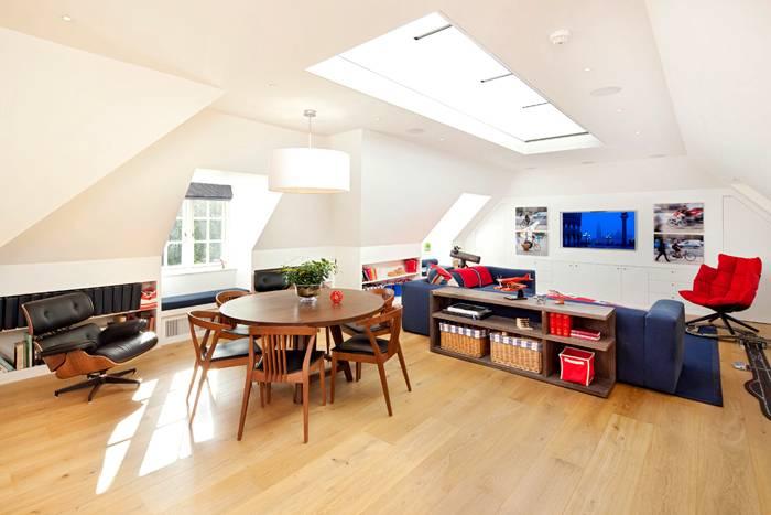 Мало мебели и много простора