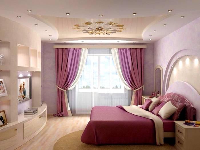Интересное световое решение в спальне