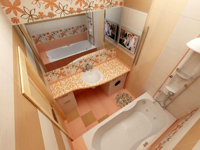Полезное пространство отводят под систему хранения и стиралку