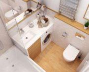 Ванная комната: фото и дизайн для маленькой ванны