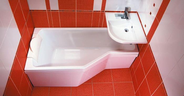 Ванны маленьких размеров имеют продуманный дизайн