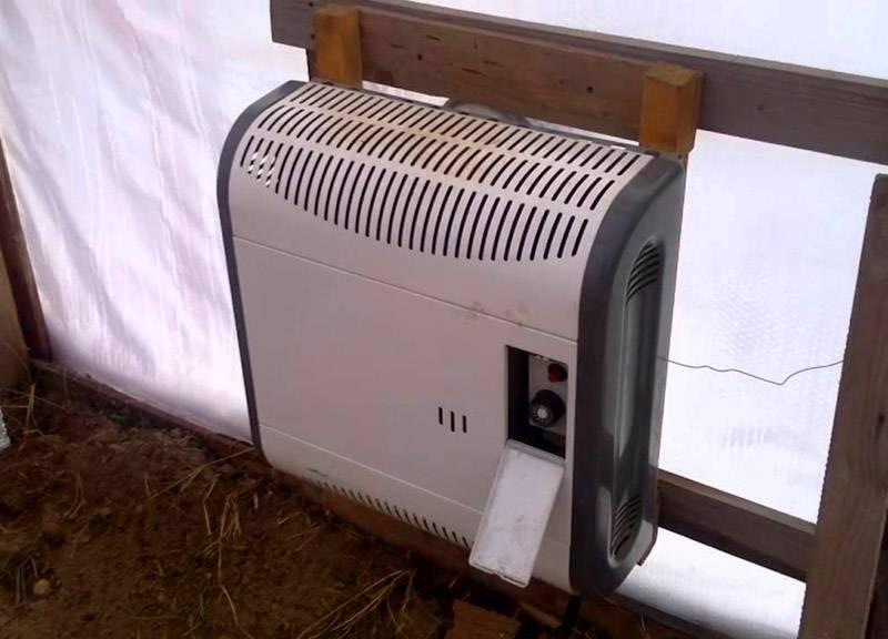 Установленный газовый обогреватель