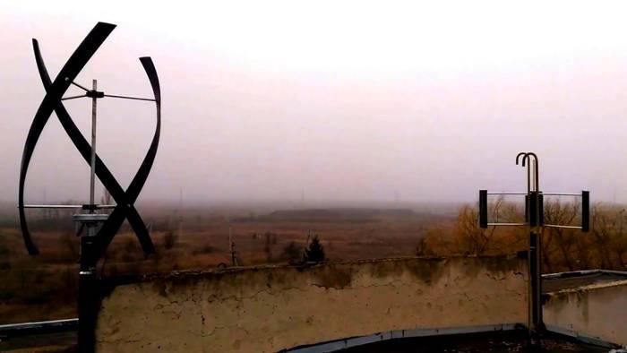 Разновидность ветрового генератора Дарье