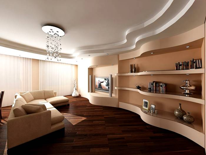 Потолку соответствует и мебель