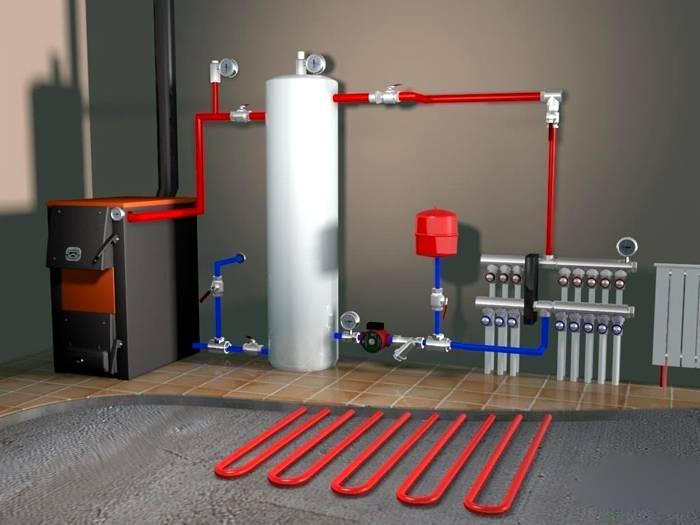 Газовый, дизельный или электрический котел нагревает воду плавно и не требует такого большого расширителя, как газовый
