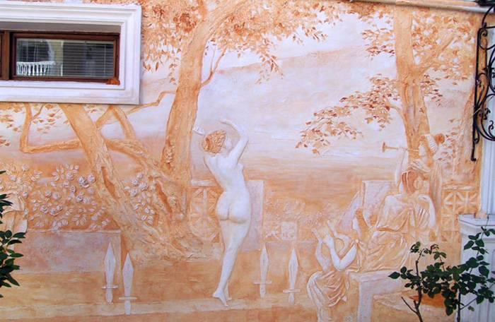 Настоящие произведения искусства на стенах