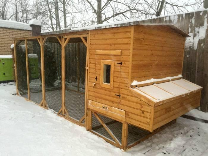 Готовый вариант зимнего убежища для кур