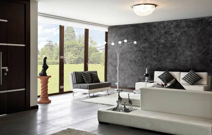 В современной комнате такие стены – настоящее украшение