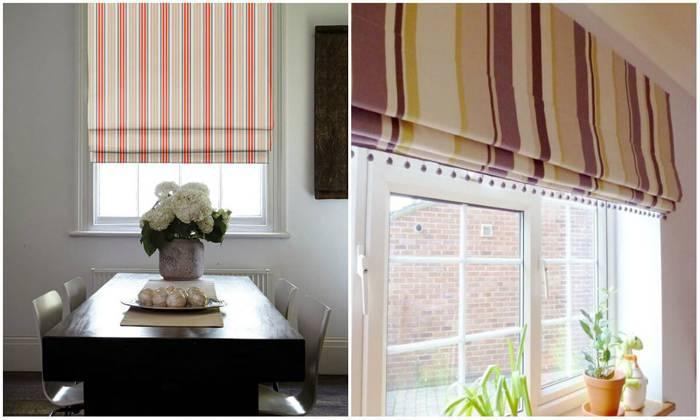 Вертикальные полосы смотрятся современно в любой комнате