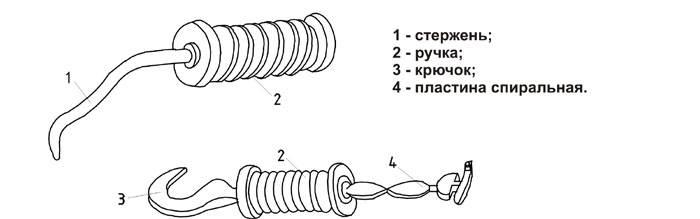 Конструкция крючка для вязки