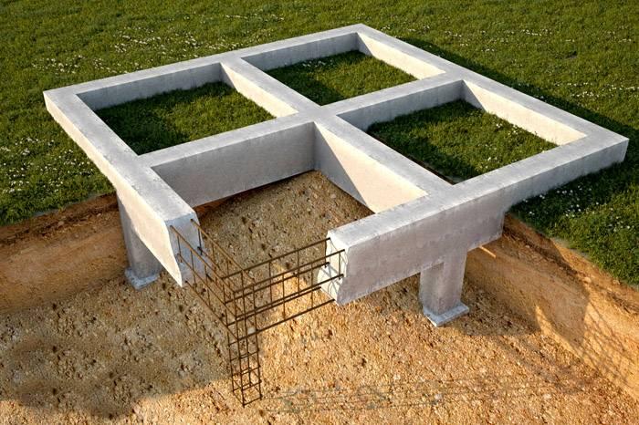 Основание ленточного типа используется для строительства зданий на песчаном и глинистом грунте