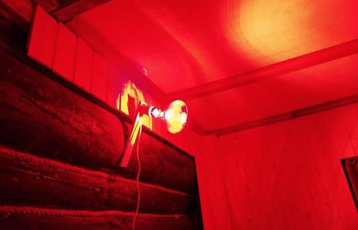 Красная ИК лампа