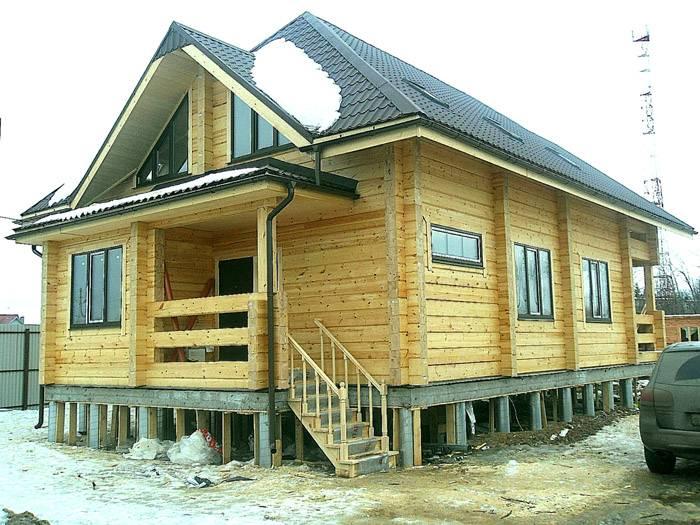 Дом под Талдом 10х10 на бетонном ростверке