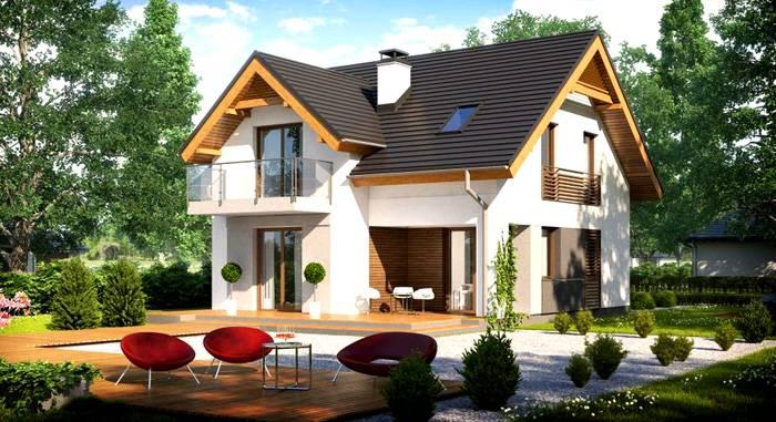 За счёт мансардного этажа полезная площадь дома значительно увеличивается и при этом расходы в целом меньше, чем на возведение полноценного второго этажа из пеноблоков