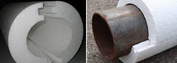 Пенопласт для защиты труб под землёй