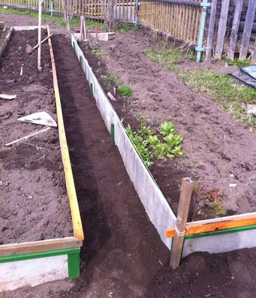 Дизайн огорода с грядками и теплицей