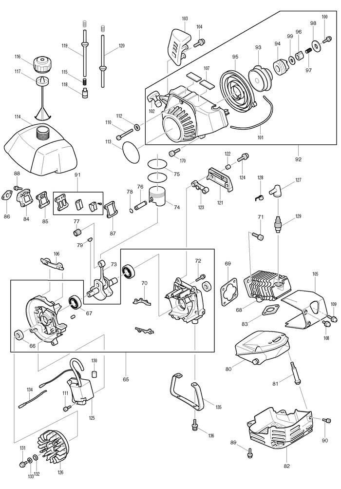Чтобы разбираться в запчастях для подобной конструкции нужно хорошо изучить устройство бензиновых моделей